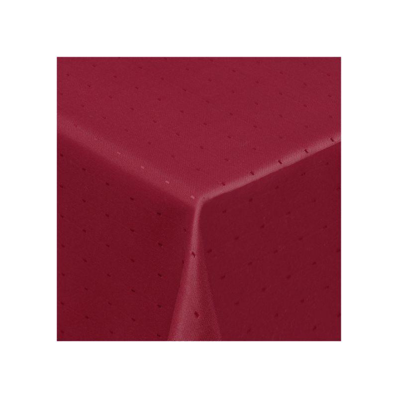 Tischdecke Damast Punkte Eckig Farbe, Grösse frei wählbar