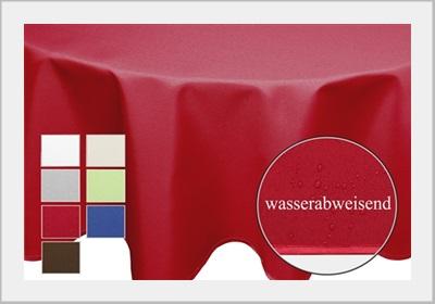 Tischdecke-Uni-Beschichtet-Lotuseffekt-FORM-FARBE-und-GROSSE-frei-waehlbar