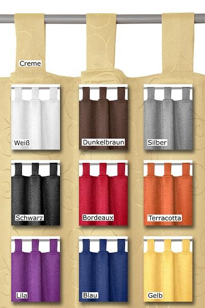 Schlaufenschal Blickdicht Vorhang Gardine Design und Farbe frei wählbar