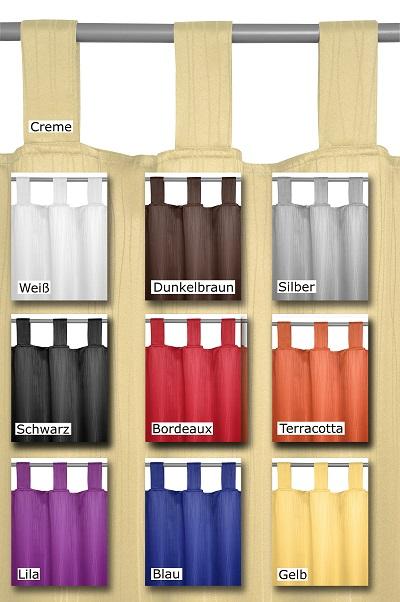 schlaufenschal blickdicht vorhang gardine design und farbe frei w hlbar ebay. Black Bedroom Furniture Sets. Home Design Ideas