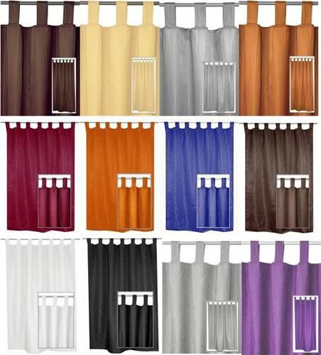 schlaufenschal blickdicht vorhang gardine 140x240 farbe design w hlbar ebay. Black Bedroom Furniture Sets. Home Design Ideas